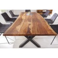 Industriálny dizajnový jedálenský stôl Steele Craft z masívneho dalbergiového dreva 200cm