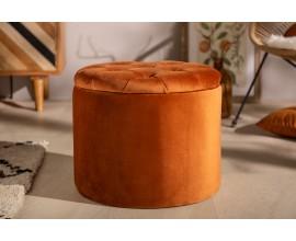 Zámocká luxusná oranžová taburetka Modern Barock s úložným priestorom 50cm