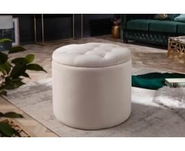 Zámocká luxusná béžová taburetka Modern Barock s úložným priestorom 50cm