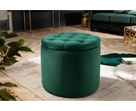 Zámocká dizajnová smaragdová taburetka Modern Barock s úložným priestorom 50cm