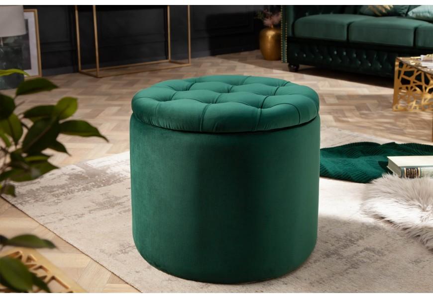 Nádherná dizajnová zámocká taburetka Modern Barock s úložným priestorom a odnímacou sedacou časťou