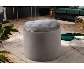 Zámocká nadčasová strieborná taburetka Modern Barock s úložným priestorom 50cm