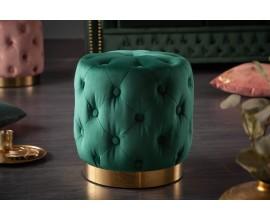 Baroková dizajnová smaragdová taburekta Modern Barock so zamatovým poťahom 38cm