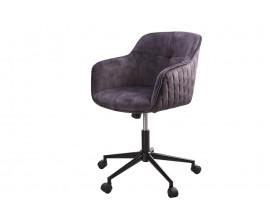 Moderná sivá polohovateľná kancelárska stolička Berittal na kolieskach 81-91cm