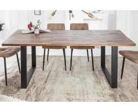 Industriálny hranatý jedálenský stôl Steele Craft z akáciového dreva s kovovými nohami 200cm