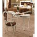 Luxusná rustikálna stolička CASTILLA s lakťovými opierkami