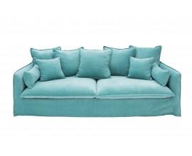Dizajnová sedačka Heaven zamat aqua
