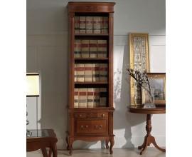 Luxusná rustikálna knižnica na nožičkách CASTILLA z masívu 62cm