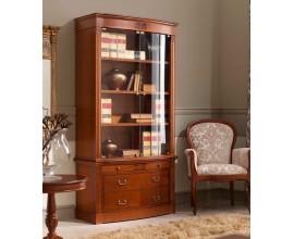 Luxusná rustikálna klasická knižnica so sklom CASTILLA 102cm