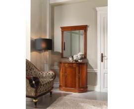 Rustikálny luxusný klasický príborník CASTILLA so oblými bokmi zdobený intarziou 88cm