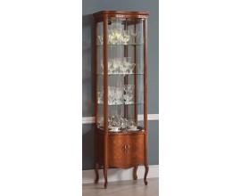 Luxusná rustikálna vitrína Rustica presklená zdobená vyrezávaním 55cm