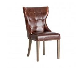 Kožená jedálenská stolička Zagra hnedá