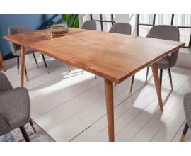 Štýlový masívny jedálenský stôl Mozaika 160cm akácia