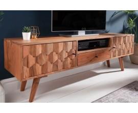 Dizajnový televízny stolík Mozaika z palisandrového masívu  140cm