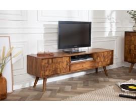 Luxusný televízny stolík Mozaika z masívneho dreva palisander 140cm