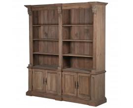Koloniálna hnedá knižnica Kolonial z borovicového dreva 212cm