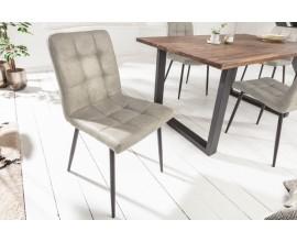 Dizajnová čalúnená jedálenská stolička Modena z mikrovlákna  v sivej farbe 87cm