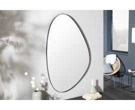 Moderné štýlové atypické nástenné zrkadlo Smialls v čiernom ráme 90cm