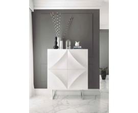 Biela lesklá moderná barová skrinka VITO 100cm