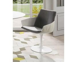 Biela futuristická moderná otočná stolička VITO biela