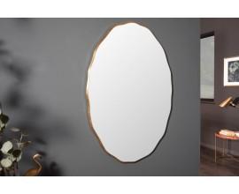 Art-deco moderné oválne nástenné zrkadlo Simplifica vo vkusnom ráme 100cm