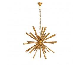 Art-deco zlatý luster Aster v tvare hviezdice 72cm