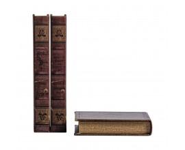 Sada troch kníh Kolonial 21cm hnedá bežová