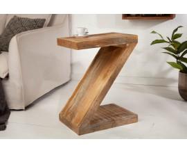 Industriálny príručný stolík ZET z masívneho mangového dreva 60cm