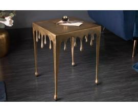 Art-deco príručný stolík Liquid Line v zlatej farbe 44cm