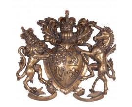 Luxusná nástenná dekorácia Erb v zlatej farbe 38cm
