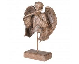 Jedinečná soška Anjel zo živice v hnedom odtieni 42cm