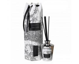 Aroma difúzer Santalové drevo strieborný s dizajnom mapy 30cm