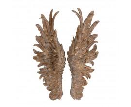Luxusná dekorácia Anjelské krídla zlaté 63cm