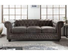 Chesterfield sedačka v sivej farbe Chesterfield Grau 200cm