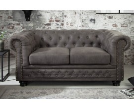 Luxusná sedačka Chcesterfield II šedá