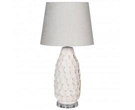 Art-deco keramická stolná lampa Bellede bielej farby 70cm
