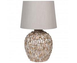 Moderná dizajnová keramická stolná lampa Effi zlatej farby 68cm