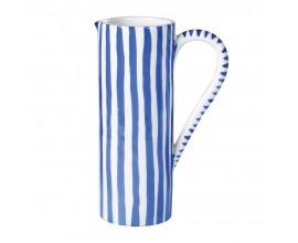 Vidiecky krčah Elke s bielo-modrými pruhmi 32cm