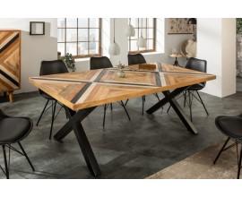 Masívny jedálenský stôl Frida Blanca hnedej farby 200cm