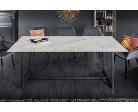 Moderný mramorový jedálenský stôl Collabor bielej farby z keramiky a kovu 200cm