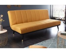 Retro sedačka Taxil žltej farby s čiernymi nožičkami 180cm
