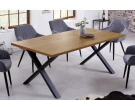 Industriálny jedálenský stôl Westford z dreva s kovovými nohami 180cm