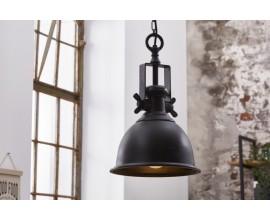 Industriálna závesná lampa Castor v čiernej farbe z kovu 45cm