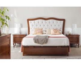 Luxusná rustikálna čalúnená posteľ Castilla s úložným priestorom 135-180cm