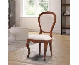 Luxusná rustikálna čalúnená jedálenská stolička Castilla