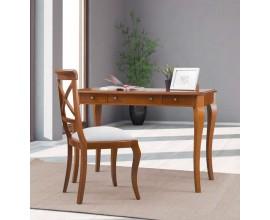 Luxusný rustikálny zdobený pracovný stolík RUSTICA so zásuvkami