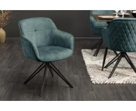 Štýlová moderná stolička Marmol s modrým zamatovým poťahom