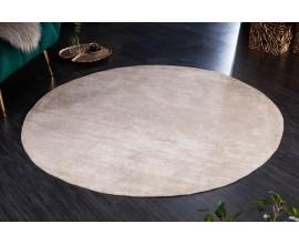 Vintage kruhový koberec Adassil béžovej farby 150cm