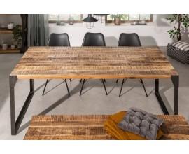 Industriálny jedálenský stôl Factory z mangového masívu hnedej farby 200cm