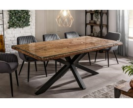 Industriálny jedálenský stôl Barracuda z dreva s kovovými nohami 200cm